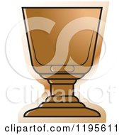 Clipart Of A Footed Rock Glass Royalty Free Vector Illustration by Lal Perera