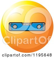 Clipart Of A Round Level Tool Icon Royalty Free Vector Illustration