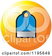 Clipart Of A Round Mamotte Tool Icon Royalty Free Vector Illustration