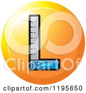 Clipart Of A Round Try Square Tool Icon Royalty Free Vector Illustration by Lal Perera