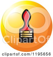 Clipart Of A Round Paint Brush Tool Icon Royalty Free Vector Illustration
