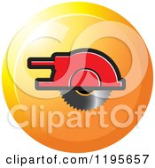Clipart Of A Round Wood Cutter Tool Icon Royalty Free Vector Illustration