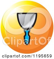 Clipart Of A Round Wall Scraper Tool Icon Royalty Free Vector Illustration