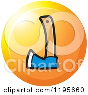 Clipart Of A Round Axe Tool Icon Royalty Free Vector Illustration