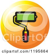 Clipart Of A Round Paint Roller Tool Icon Royalty Free Vector Illustration
