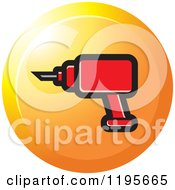 Clipart Of A Round Electric Drill Tool Icon Royalty Free Vector Illustration