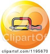 Clipart Of A Round Hacksaw Tool Icon Royalty Free Vector Illustration
