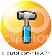 Clipart Of A Round Hammer Tool Icon Royalty Free Vector Illustration