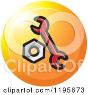 Clipart Of A Round Spanner And Nut Tool Icon Royalty Free Vector Illustration by Lal Perera
