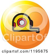 Clipart Of A Round Tape Measure Tool Icon Royalty Free Vector Illustration