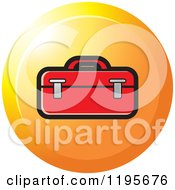 Clipart Of A Round Tool Box Tool Icon Royalty Free Vector Illustration