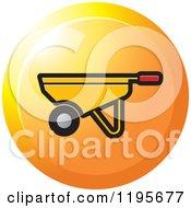 Clipart Of A Round Wheelbarrow Tool Icon Royalty Free Vector Illustration