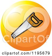 Clipart Of A Round Wood Cutting Saw Tool Icon Royalty Free Vector Illustration