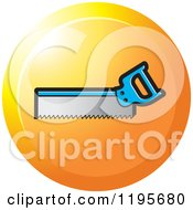 Clipart Of A Round Back Saw Tool Icon Royalty Free Vector Illustration