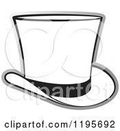 Clipart Of A Grayscale Top Hat Royalty Free Vector Illustration by Lal Perera
