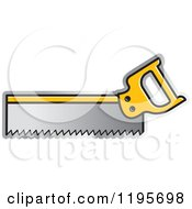 Clipart Of A Back Saw Tool Icon Royalty Free Vector Illustration