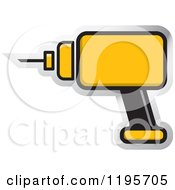 Clipart Of A Yellow Electric Drill Tool Icon Royalty Free Vector Illustration