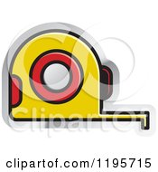 Clipart Of A Tape Measure Tool Icon Royalty Free Vector Illustration