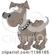 Cartoon Of A Happy Dog Grinning Royalty Free Vector Clipart