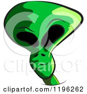 Clipart Of A Green Alien Being Head Royalty Free Vector Illustration by Spanky Art
