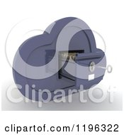 Clipart Of A 3d Cloud Computing Open File Cabinet With A Key Royalty Free CGI Illustration