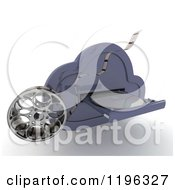 Clipart Of A 3d Computing Cloud Drive With A Dvd And Film Reel Royalty Free CGI Illustration