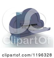 Clipart Of A 3d Computing Cloud Drive With A Cd And Music Note Royalty Free CGI Illustration by KJ Pargeter