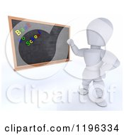 Clipart Of A 3d White Character Teacher With Back To School Magnets On A Black Board Royalty Free CGI Illustration by KJ Pargeter