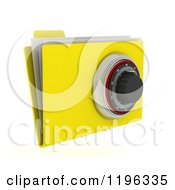 Clipart Of A 3d Secure File Folder With A Security Dial Lock Royalty Free CGI Illustration