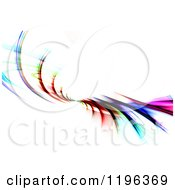 Clipart Of A Colorful Abstract Fractal Spiraling Over White Royalty Free CGI Illustration
