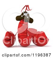 Cartoon Of A 3d Pirate Lobster Royalty Free Vector Clipart by Julos