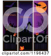 Cartoon Of Vertical Halloween Banners With Sample Text Royalty Free Vector Clipart