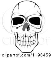 Poster, Art Print Of Black And White Cracked Skull 2