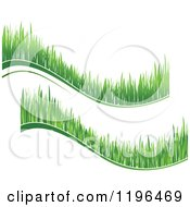 Clipart Of Green Grass Waves 4 Royalty Free Vector Illustration