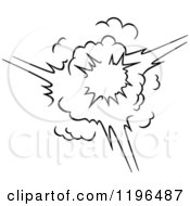 Clipart Of A Black And White Comic Burst Explosion Or Poof 16 Royalty Free Vector Illustration