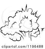 Clipart Of A Black And White Comic Burst Explosion Or Poof 17 Royalty Free Vector Illustration