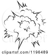 Clipart Of A Black And White Comic Burst Explosion Or Poof 19 Royalty Free Vector Illustration