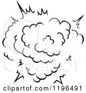 Clipart Of A Black And White Comic Burst Explosion Or Poof 18 Royalty Free Vector Illustration