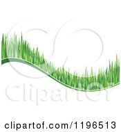 Clipart Of A Green Grass Wave 8 Royalty Free Vector Illustration