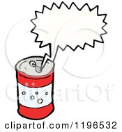 Cartoon Of A Soda Can Speaking Royalty Free Vector Illustration by lineartestpilot