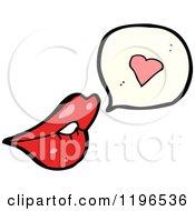 Cartoon Of Lips In Love Speaking Royalty Free Vector Illustration