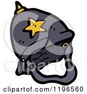 Cartoon Of A Police Helmet Royalty Free Vector Illustration by lineartestpilot