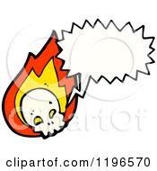 Poster, Art Print Of Flaming Skull Speaking