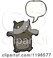 Cartoon Of A Bear Speaking Royalty Free Vector Illustration by lineartestpilot