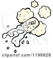Cartoon Of A Bar Of Soap Royalty Free Vector Illustration