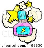 Cartoon Of A Bottle Of Fingernail Polish Royalty Free Vector Illustration