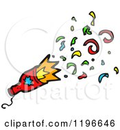 Cartoon Of A Firecracker Royalty Free Vector Illustration by lineartestpilot