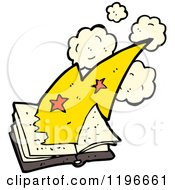 Cartoon Of A Magic Book Royalty Free Vector Illustration