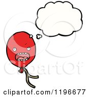 Cartoon Of A Balloon Thinking Royalty Free Vector Illustration by lineartestpilot