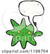 Cartoon Of Star Fish Speaking Royalty Free Vector Illustration